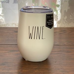 RAE DUNN insulated WINE glass